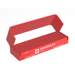 3DA620RED Aluminum Bur Block 12FG