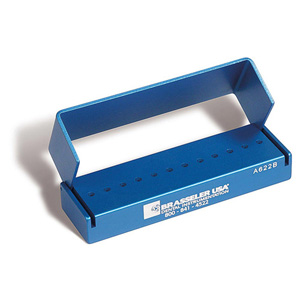 3DA622BLUE Aluminum Bur Block 12RA