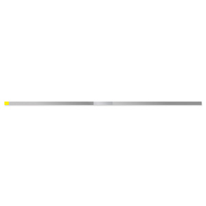 DS25EF Extra-Fine Yellow Single Sided Narrow Diamond Strip (10 Pack)