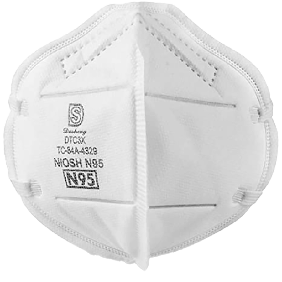 N95 Particulate Respirator- NIOSH Approved (20 Pack)