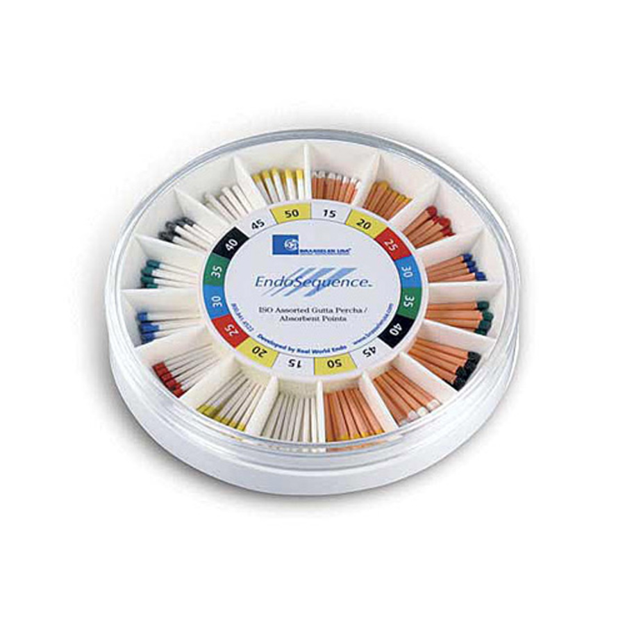 EndoSequence Gutta Percha / Paper Point Assortment Wheel - GP/PP 15-60 .04 Taper (300 Pieces)