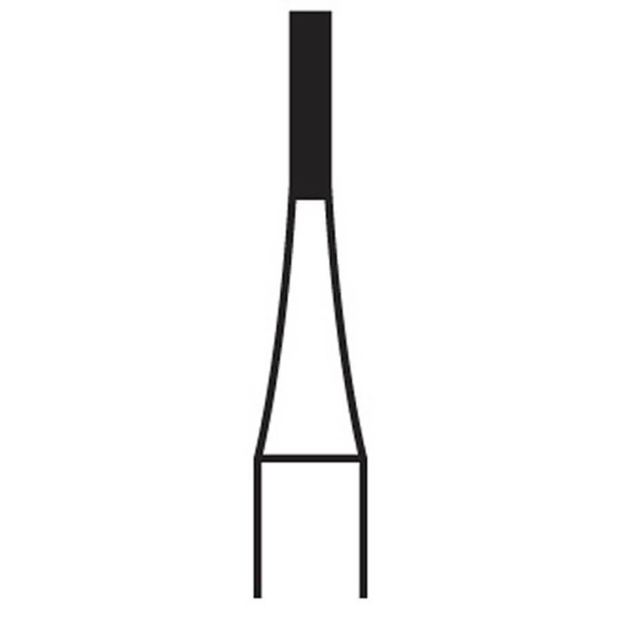 256 FG Flat-End Fissure Carbide H30005.31.020 (10 Pack)