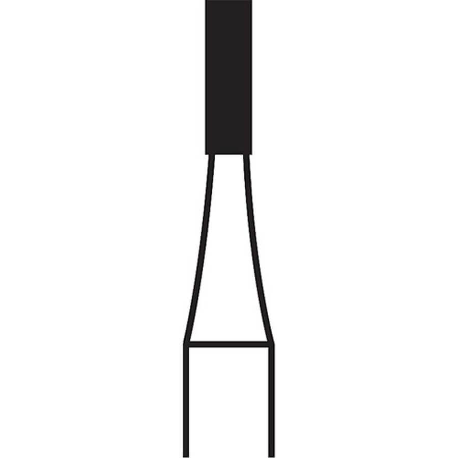 558 FG Flat End Cross Cut Fissure Carbide H31.31.012 (100 Pack)