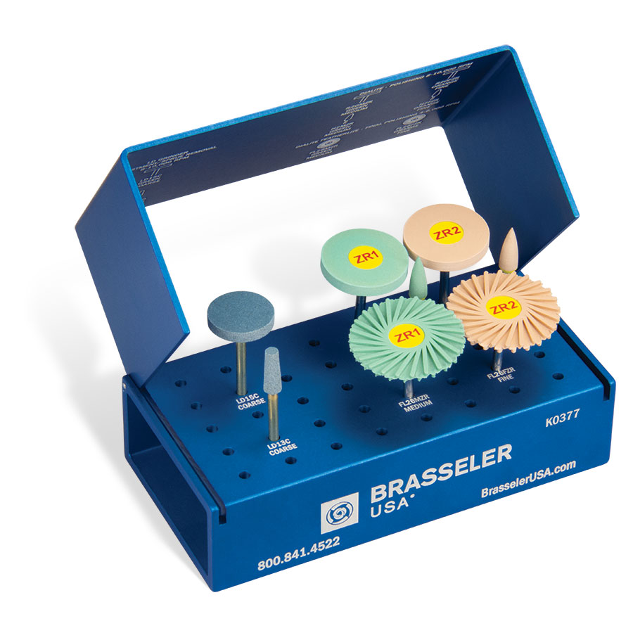 K0377 BrasselerUSA: Dialite ZR (Zirconia) Extra-Oral Adjusting and Polishing System