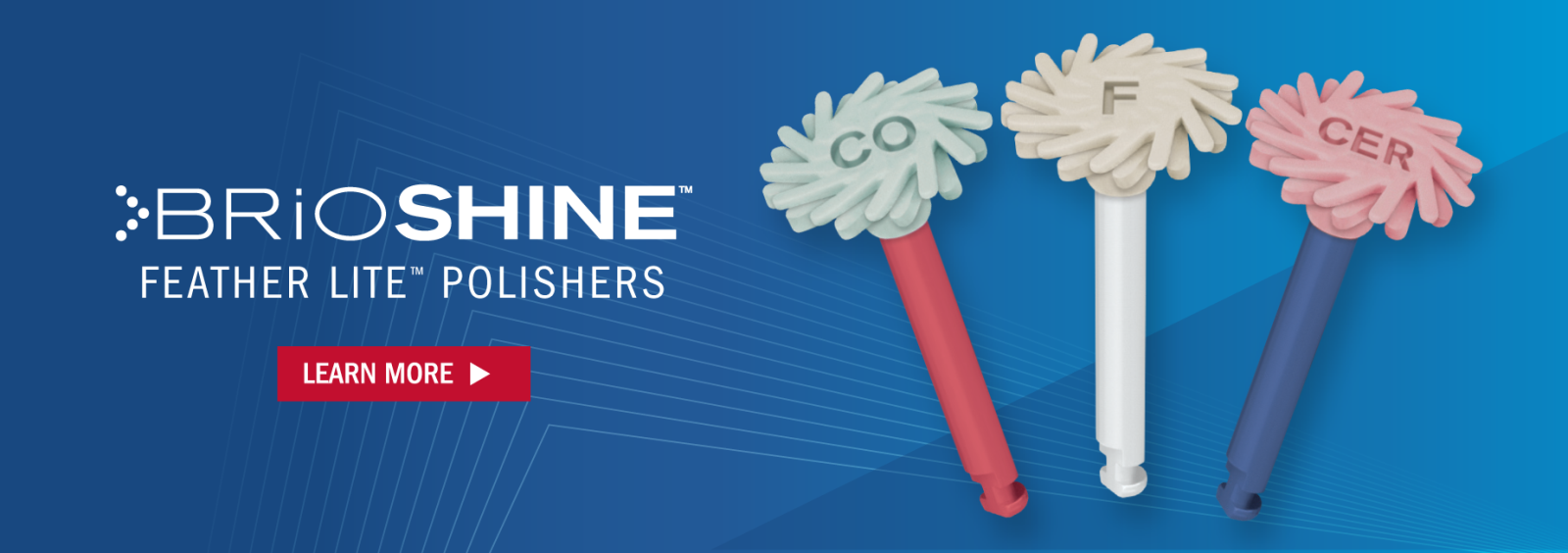 BrioShine Feather Lite Polishers. Learn More.