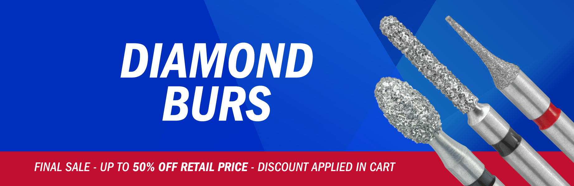 Diamond Burs - Final Sale up to 50% off Retail Price.