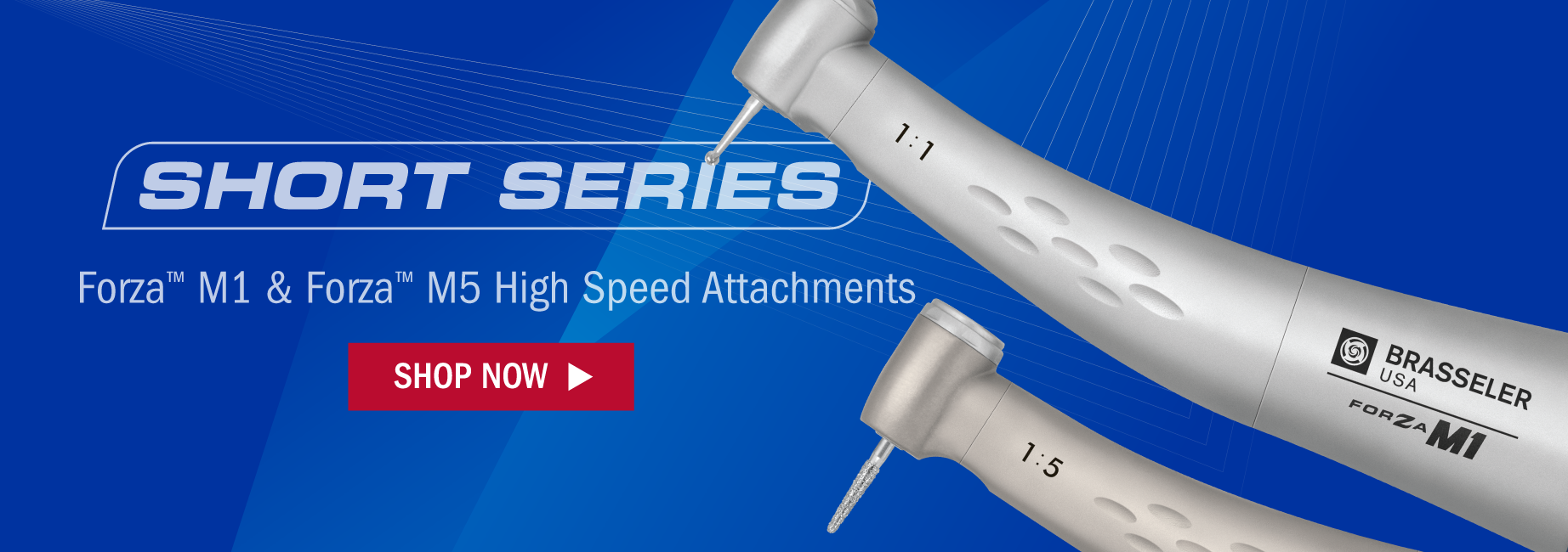 Forza Short Series Electric Dental Attachments from Brasseler Canada