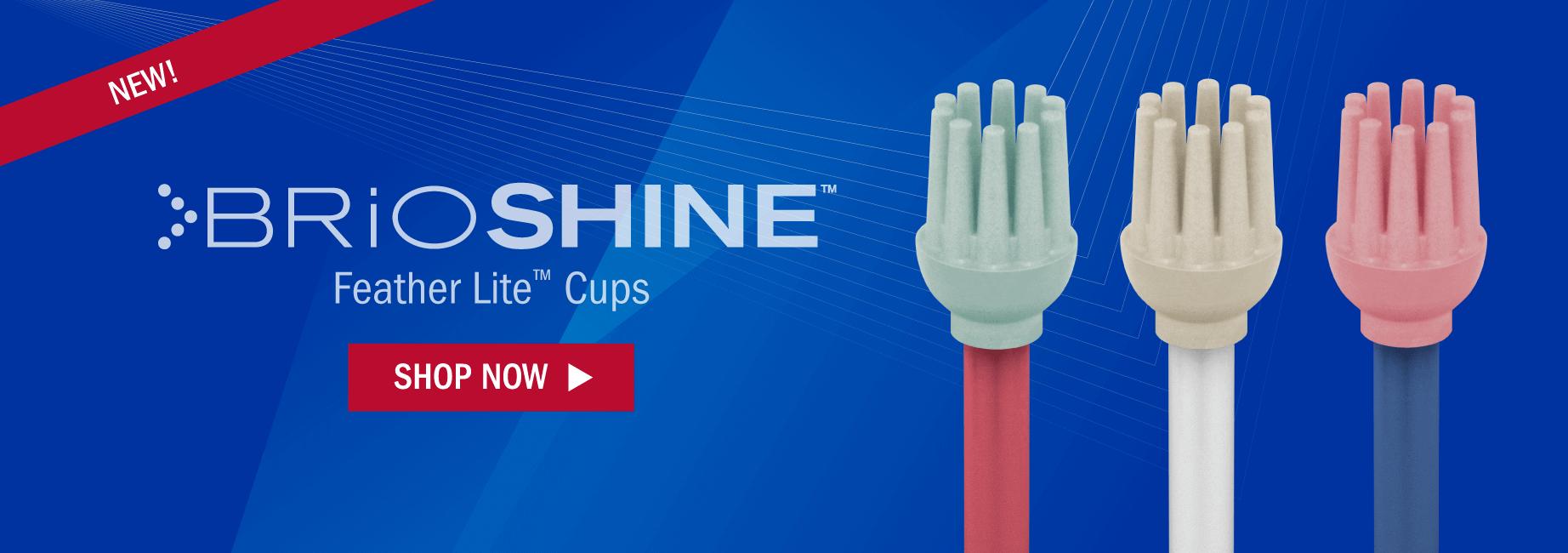 New! BrioShine Sterile Feather Lite Cups
