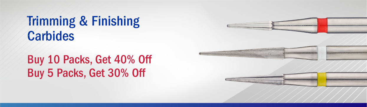C-Series Trimming & Finishing Carbides: Buy 10 Packs, Get 40% Off Buy 5 Packs, Get 30% Off