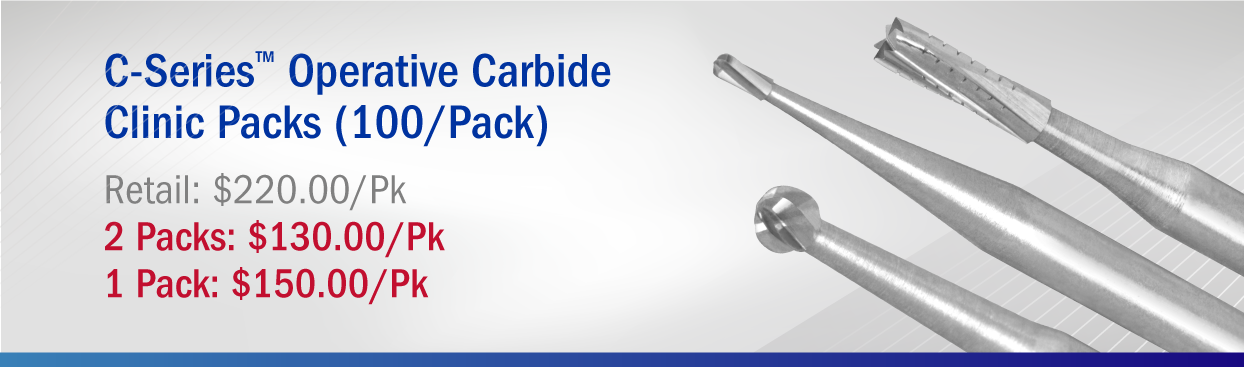 C-Series Carbides Clinic Pack (Qty 100) Retail $200.00 Special $130.00/Pk