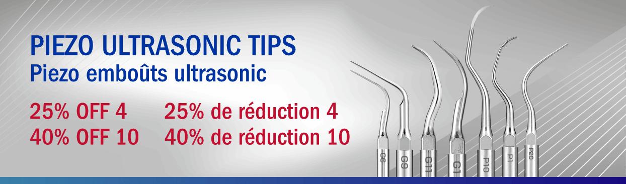 Piezo Ultrasonic Tips Buy 4, Get 25% Off Buy 10, Get 40% Off