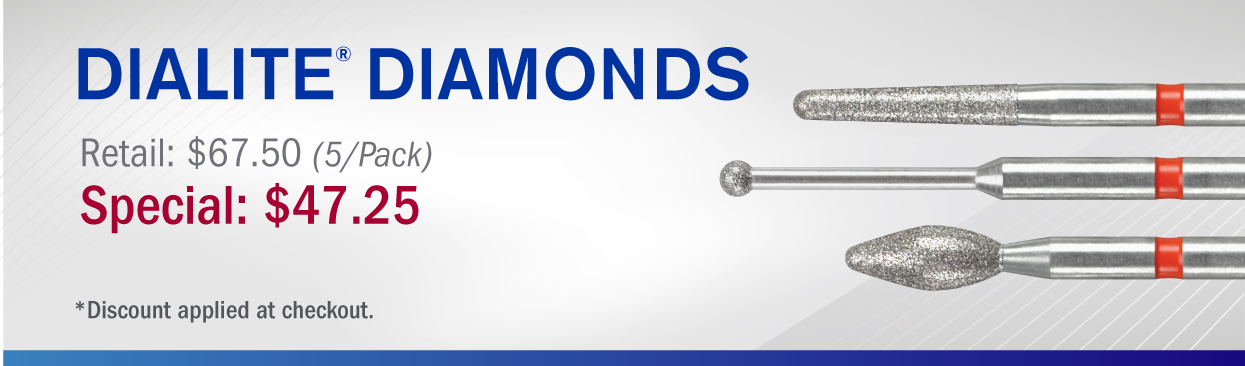 Dialite Diamonds Retail $67.50 (5/Pack) Special: $47.25